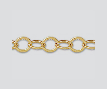 Gold Filled Flat Oval Cable Chain 4.7x3.6mm - 10 Feet