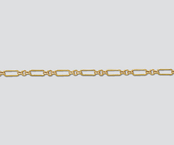 Gold Filled Long & Short Chain 6.5x2mm - 10 Feet