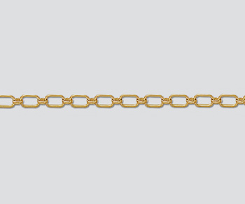 Gold Filled Long & Short Chain 6x3.4mm - 10 Feet