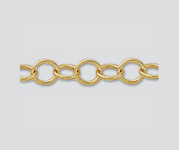 Gold Filled Oval Cable Chain 4.7x3.6mm - 10 Feet