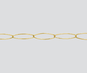 Gold Filled Oval Cable Chain 5.5x17.2mm - 10 Feet