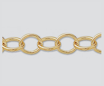 Gold Filled Oval Cable Chain 6.7x5.2mm - 10 Feet