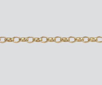 Gold Filled Oval Rolo Chain 2.6x1.8mm - 10 Feet