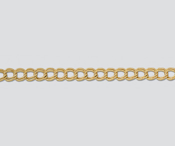 Gold Filled Parallel Curb Chain 5.3x4.4mm - 10 Feet