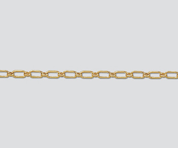 Gold Filled Rectangular Long & Short Chain 6x2.7mm - 10 Feet