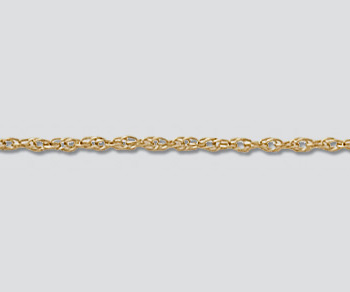 Gold Filled Rope Chain 1.07mm - 10 Feet