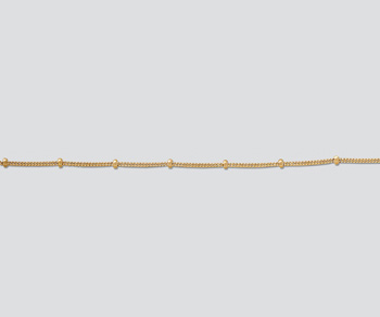 Gold Filled Sattelite Chain 1mm w/1.9mm Ball - 10 Feet