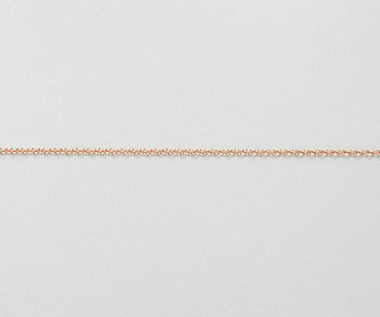 Rose Gold Filled Cable Chain 1.2mm - 10 Feet