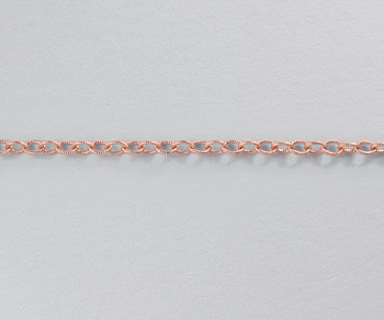 Rose Gold Filled Chain Cable Knurled 1.8x2mm - 10 Feet