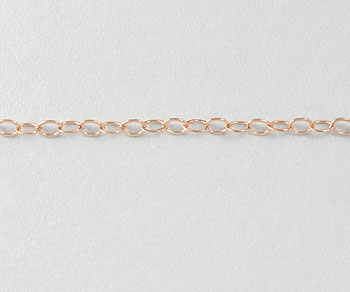 Rose Gold Filled Chain Flat Cable 1.3mm - 10 Feet