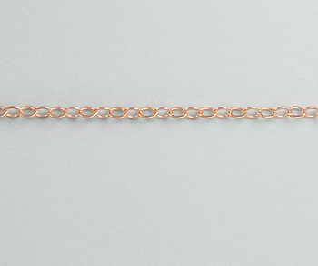 Rose Gold Filled Flat Cable Chain 1.5mm - 10 Feet