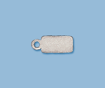 Sterling Silver Name Tag w/ Ring Large 5x11.5mm - Pack of 2