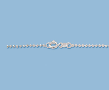 Sterling Silver Ball Chain 1.5mm Diamond Cut 18 inch - Pack of 1