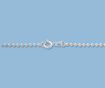 Sterling Silver Ball Chain 2mm 20 inch - Pack of 1