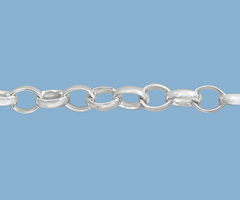 Sterling Silver Chain Belcher 4.5x3.6mm - 10 Feet