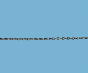 Sterling Silver Chain Cable (Oxidized) 1.2mm - 10 Feet