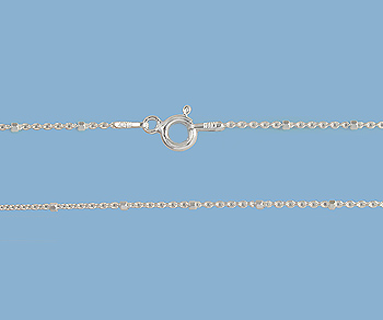 Sterling Silver Chain 1x1.5mm 20 inch - Pack of 1