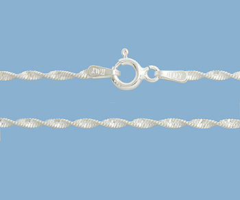 Sterling Silver Chain Twisted Magic 1.9mm 18 inch - Pack of 1