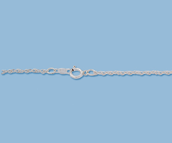 Sterling Silver Rope Chain 10R 1.25mm 20 inch - Pack of 1