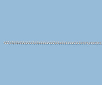 Sterling Silver Curb Chain 2.1mm - 10 Feet
