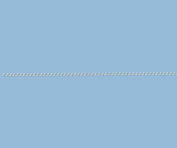 Sterling Silver Curb Chain 2x1mm - 10 Feet