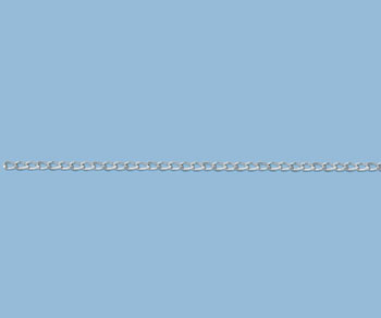 Sterling Silver Curb Chain 3.5x2mm - 10 Feet