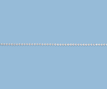Sterling Silver Diamond Cut Ball Chain 1.5mm - 10 Feet