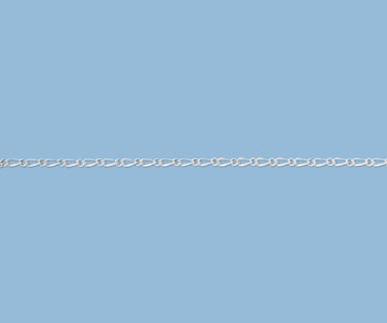 Sterling Silver Figaro Chain 1.5mm - 10 Feet
