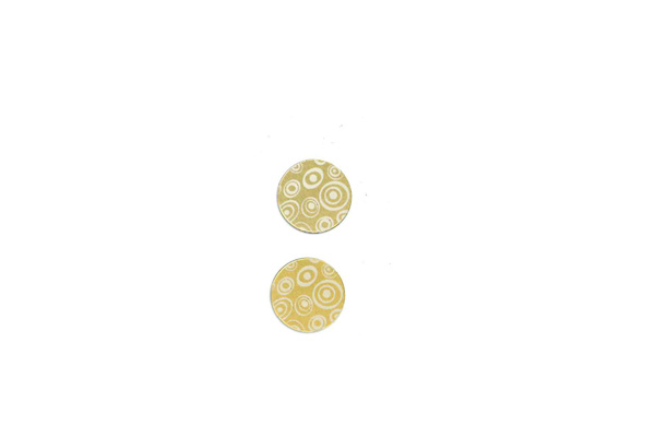 "Lillypilly - Gold Circles - 3/4"" Disc (PKG 2)"