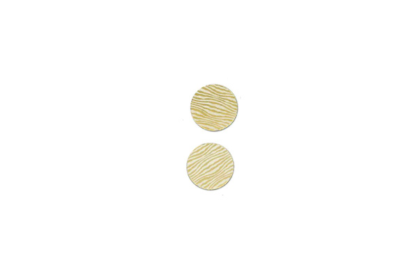 "Lillypilly - Gold waves - 3/4"" Disc (PKG 2)"