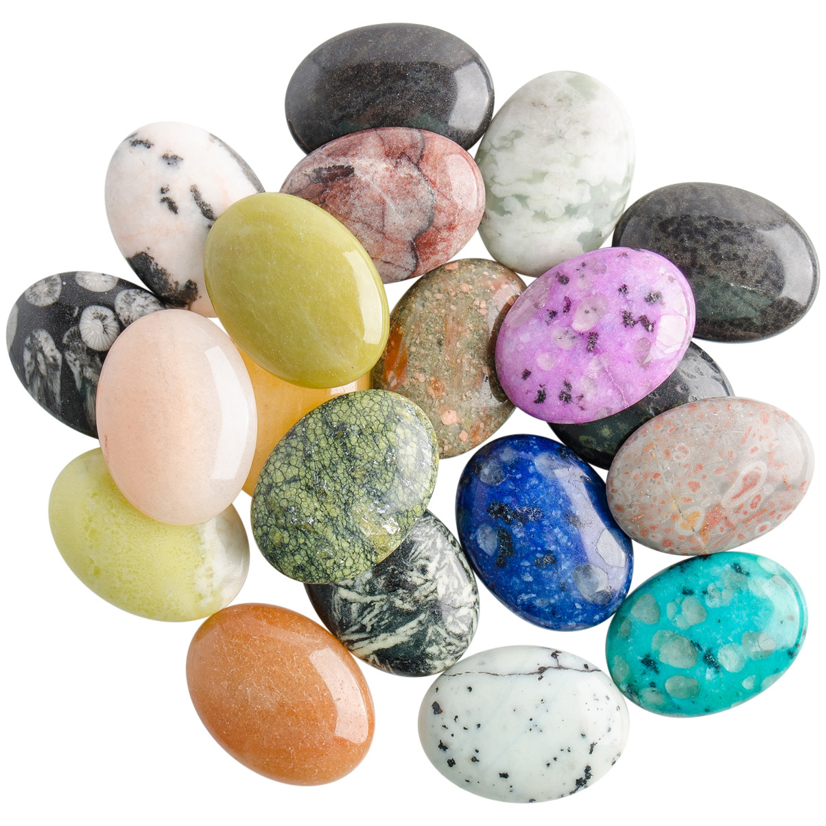 30x22MM Assorted Oval Cabochon Mix  PK20