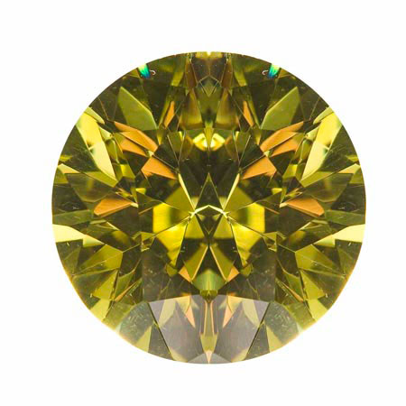 18mm Round Peridot CZ - Pack of 1