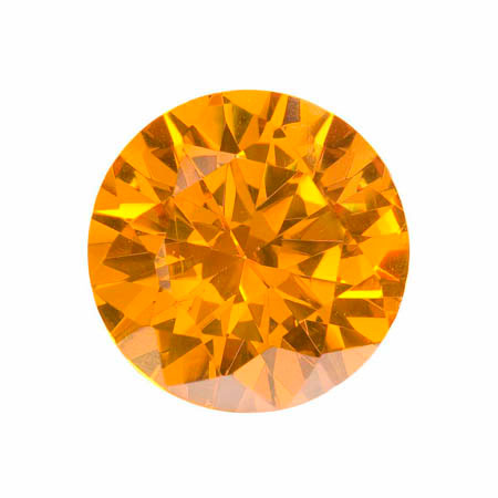 18mm Round Golden Yellow CZ - Pack of 1