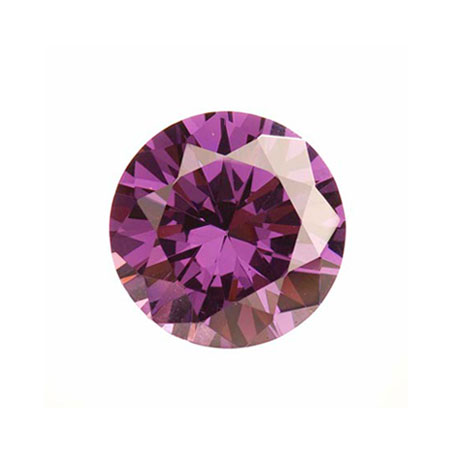 5mm Round Light Amethyst CZ - Pack of 5