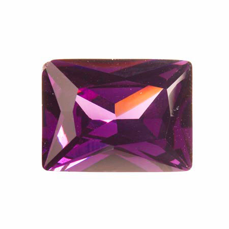20X15mm Rectangle Light Amethyst CZ - Pack of 1
