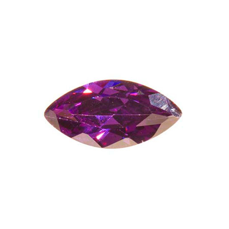 10X5mm Marquise Amethyst CZ - Pack of 2