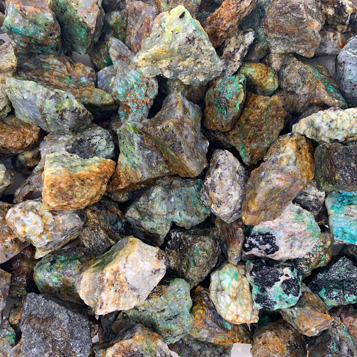 WireJewelry 3 lbs of Bulk Rough Chrysocolla Stone - Large Natural Rough Stone and Crystals for Tumbling