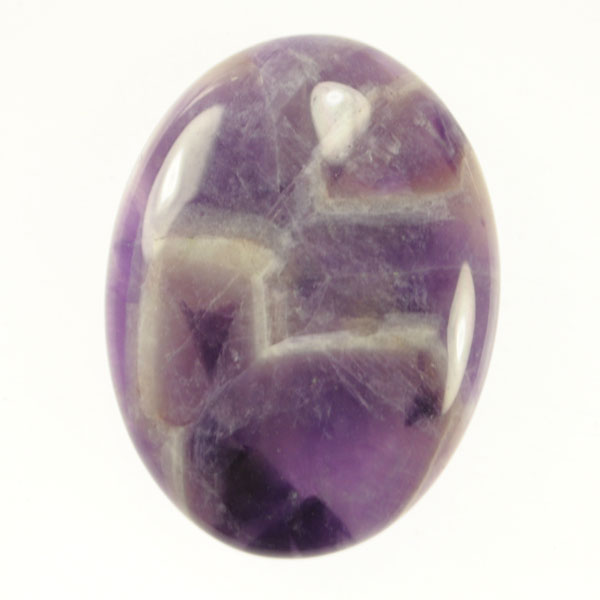 Dog Teeth Amethyst 22x30mm Oval Cabochon - Pack of 1