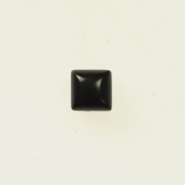 Matte Onyx 6mm Square Cabochon - Pack of 2