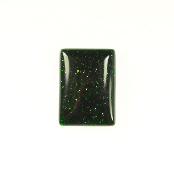 Green Goldstone 22x30mm Rectangle Cabochon - Pack of 1