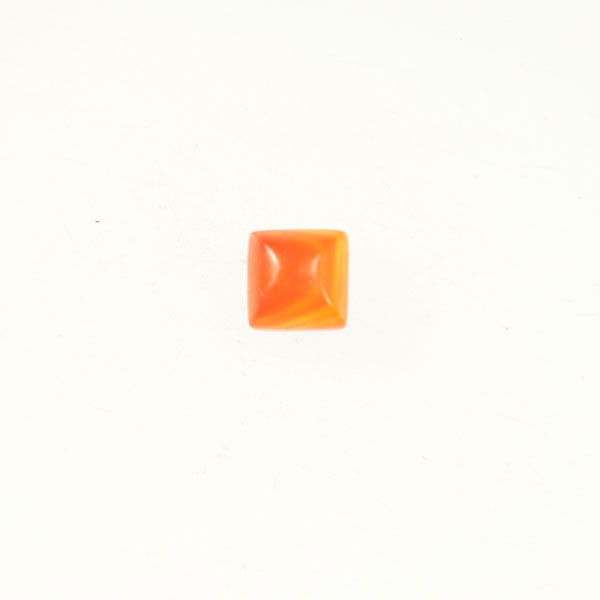 Matte Carnelian 6mm Square Cabochon - Pack of 2
