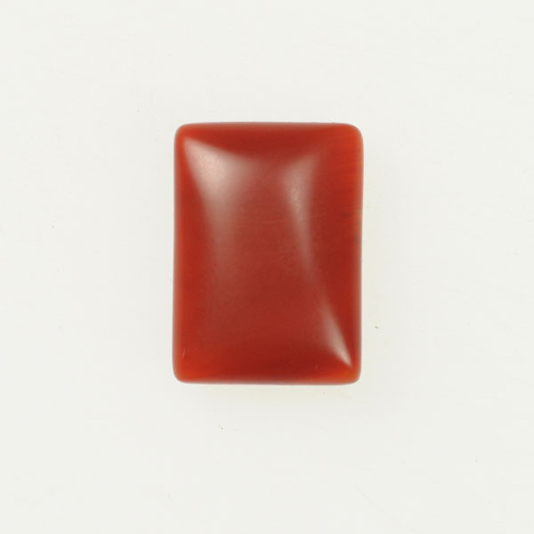 Matte Carnelian 10x14mm Rectangle Cabochon - Pack of 2