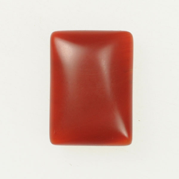 Matte Carnelian 18x25mm Rectangle Cabochon