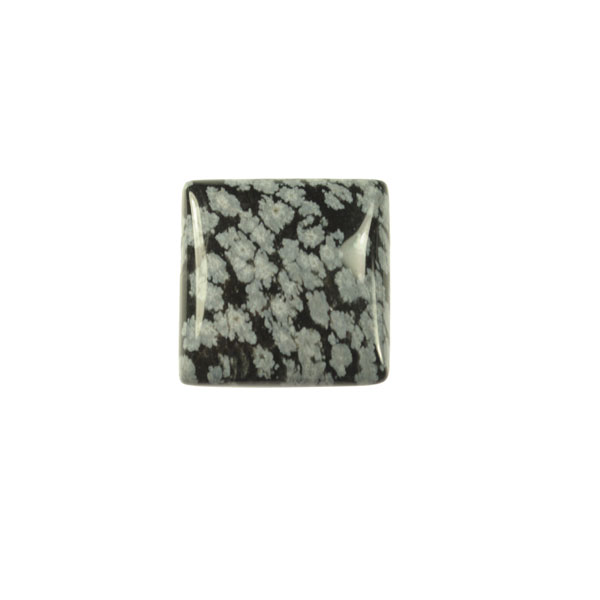 Snowflake Obsidian 10mm Square Cabochon - Pack of 2