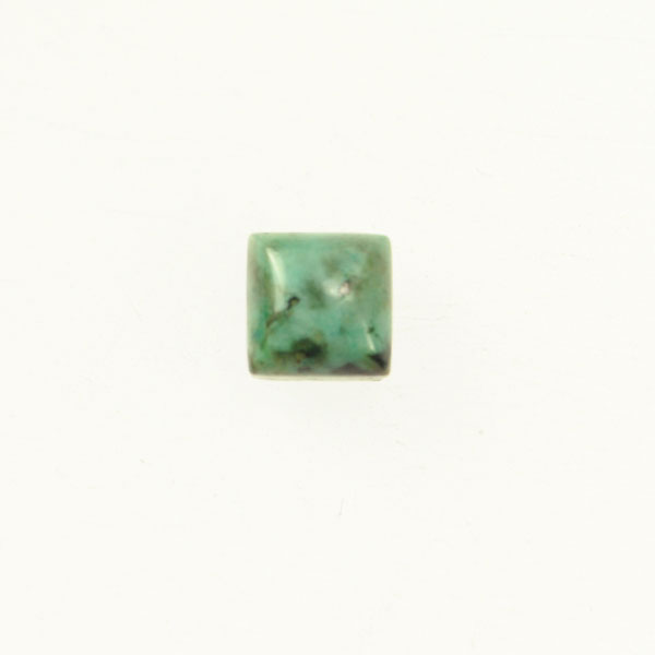 African Turquoise 6mm Square Cabochon - Pack of 2