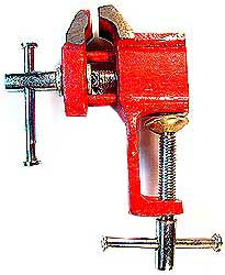 1 Inch Baby Bench Vise with Fixed Base - Clamp Type