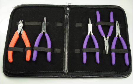 WireJewelry - Ultimate Wire-Pliers Jewelry Pliers with Case, Set of 5