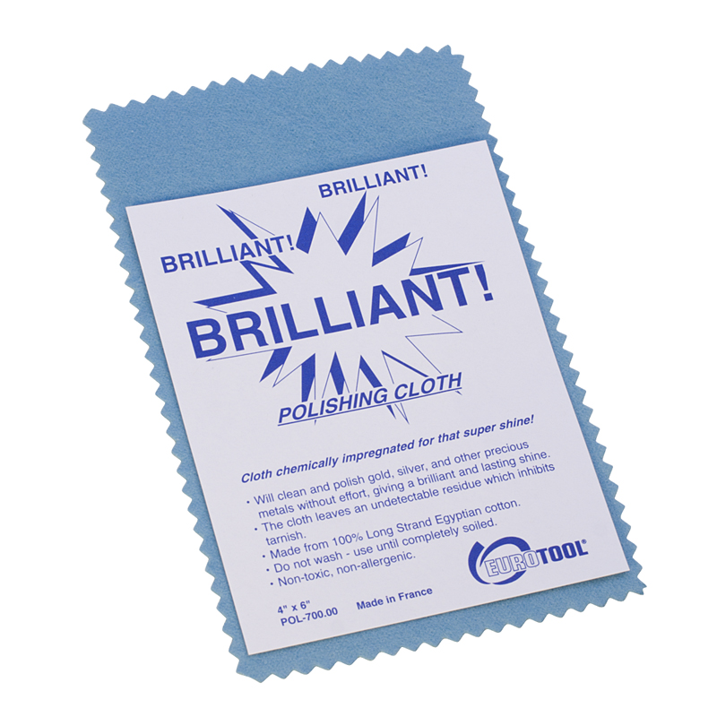 Brilliant Polishing Cloths - Small - 6x4 inch