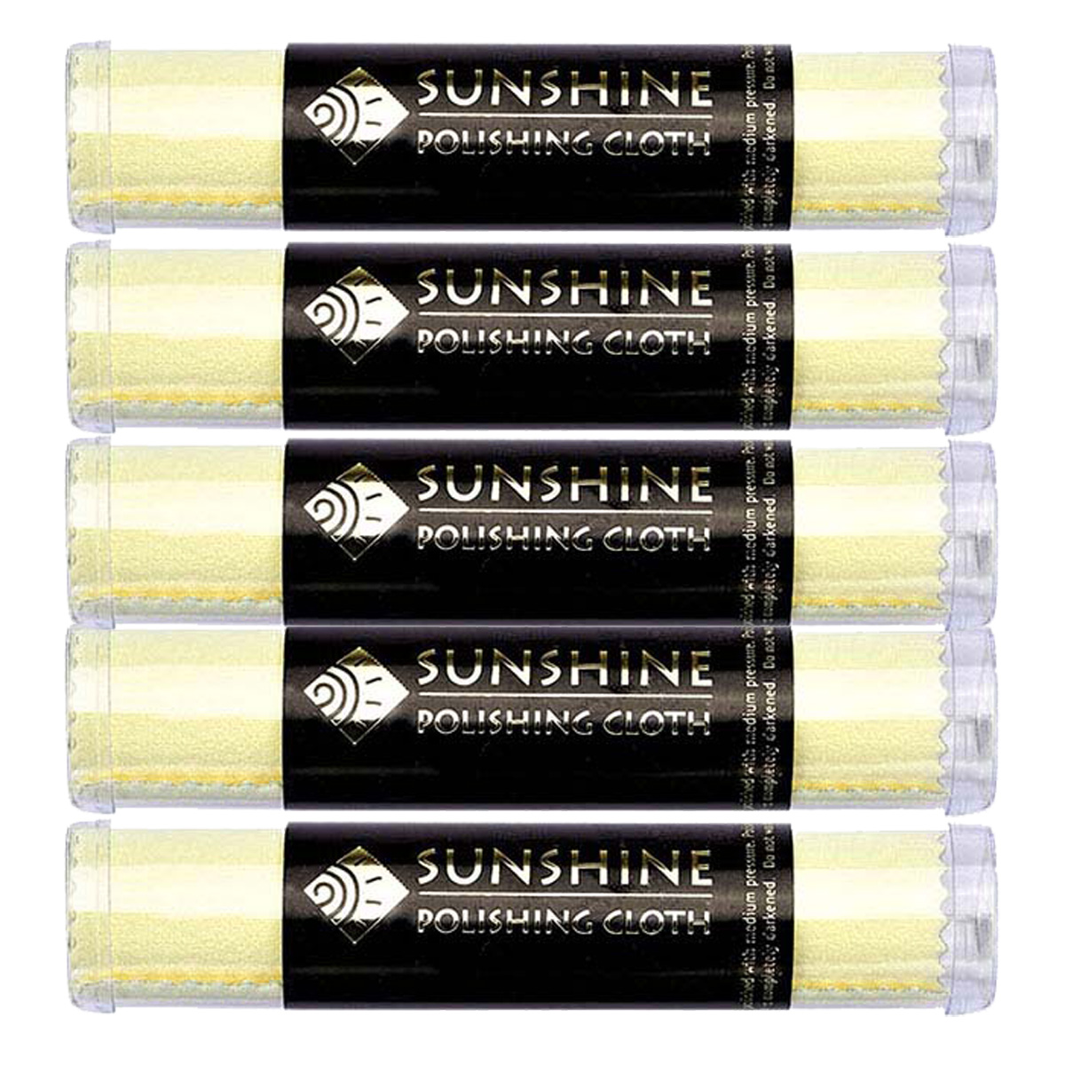Sunshine Polishing Clothes in Tubes, 5 Pack