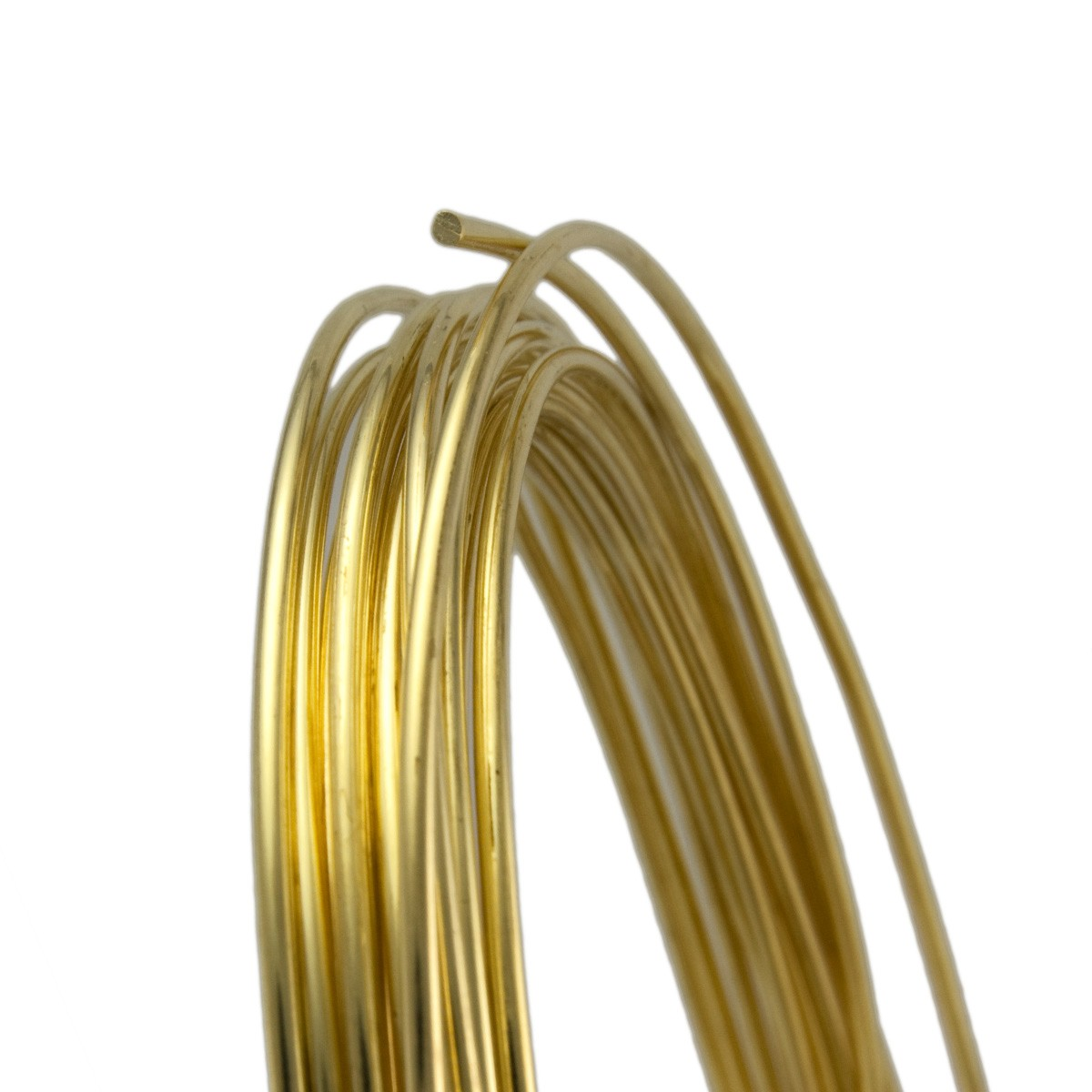 10 Gauge Round Dead Soft Yellow Brass Wire